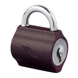 Godrej Mylock Small Bag Lock Texture Brown Two Key- Pack of 3