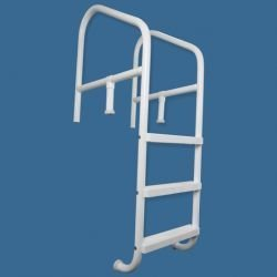 Saftron CBL-336-4S-G Commercial In-ground 4 Step, Cross Braced Ladder 36 x 79 in. Gray robots in disguise 1 step changers