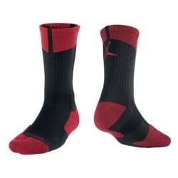 Jordan Air Nike Men's Dri-Fit Crew Socks Basketball Elite Red L