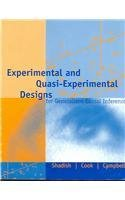 Experimental and Quasi-Experimental Designs for...