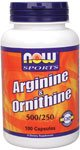 Arginine/Ornithine Now Foods 100 Caps