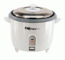 Bajaj Majesty RCX7 700-Watt 1.8-Litre Rice Cooker (White)