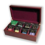Wooden Tea Chest Box with Taylors of Harrogate English Tea - Gift Wrap Option