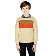 Pure Lambswool Striped Jumper