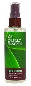 Desert Essence Tea Tree Relief Spray 4 oz Tea Tree Oil Spray