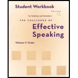 Student Workbook for Verderber/Verderber's The Challenge of Effective Speaking, 13th (0495001201) by Verderber, Rudolph F.