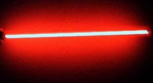 24 Inch Red Neon Light Rods - Make Your Car Interior Glow - Built In 12 Volt Transformer