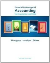 Financial & Managerial Accounting (Financial Chapters) (Myaccountinglab)3th (third) edition