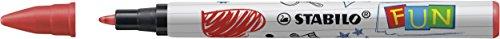 STABILO b- 47346-10 fun avec 2 cartouches d'encre aufkleberkarten à collectionner, 10, lot de 3 2-rouge