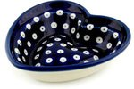 Polmedia Polish Pottery 6-inch Stoneware Heart Shaped Bowl H6483B Hand Painted from Ceramika Artystyczna in Boleslawiec Poland. Shape S506A(018) Pattern P0219A(70AX) 7 inch black round plastic rotary plate turnplate clay pottery sculpture tool