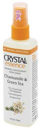 Crystal Body Deodorant Mineral Deodorant Body Spray Chamomile & Green Tea, Chamomile & Green Tea 4 Oz (Deodorants)