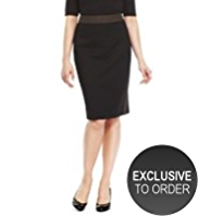 Twiggy for M&S Collection Shimmer Panelled Skirt