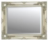 Extra Large Antique Silver Shabby Chic Framed Bevelled Mirror 46inch x 36inch (117cm x 91cm) Stunning Quality - Ready to Hang - ITV Show Supplier