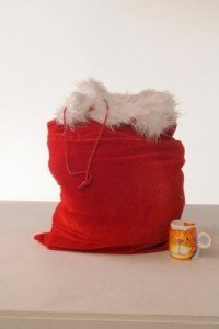 Father Christmas - 70cm x 50cm Velvet Plush Santa Sack / Christmas Decorations