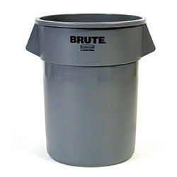 Zoom Supply Rubbermaid 2655 Brute Trash Can, Industrial-Grade Rubbermaid Brute Trash Can 55 gallon Brute Garbage Can -- Industrial Indestructible Garbage Can