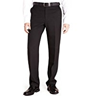 Big & Tall Active Waistband Flat Front Plain Travel Trousers
