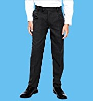 Boys 2 Pack Pleat Front Trousers