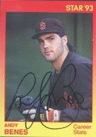 Andy Benes San Diego Padres 1993 Star Autographed Hand Signed Trading Card - Minor... by Hall+of+Fame+Memorabilia