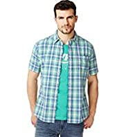 North Coast Pure Cotton Short Sleeve Checked Shirt