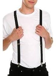 Black suspenders for men