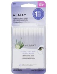 Almay Oil-Free Makeup Eraser Sticks, 24 Count