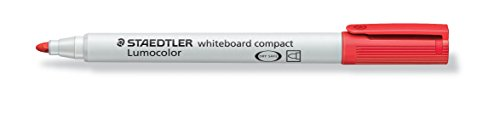 Marcatore per lavagna Whiteboard compact Staedtler rosso tonda 1-2 mm 341-2