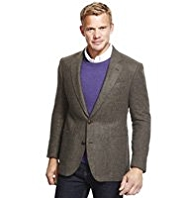Blue Harbour Heritage Luxury Wool Rich 2 Button Checked Jacket