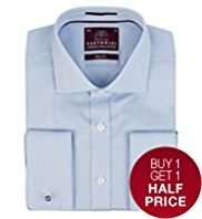 2in Longer Slim Fit Sartorial Fine Striped Shirt