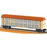 Lionel Hot Wheels, Electric O Gauge Model Train Cars, 50th Anniversary Auto Rack (Color: Orange, Tan, Blue, Silver, Tamaño: 50th Anniversary Auto Rack)
