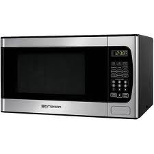 Emerson 0.9 Cu. Ft. 900 Watt Stainless Microwave Oven - Stainless