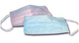 DISPOSABLE EARLOOP FACE MASK BLUE 50/BX