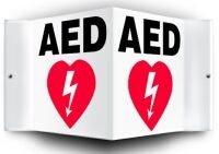 [해외]AED 벽 신호/AED Wall Sign