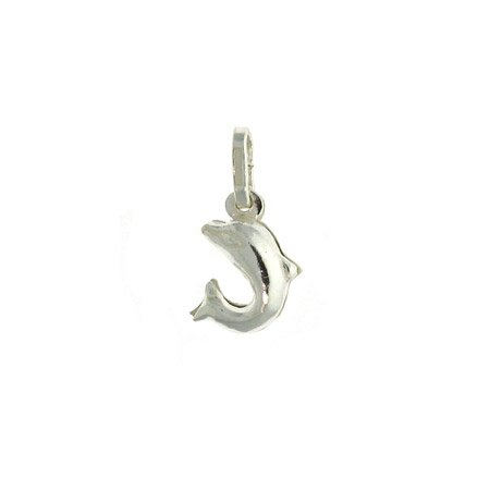 Italian Sterling Silver .925 Dolphin animal Pendant/Charm