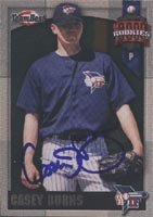Casey Burns Idaho Falls Padres - Padres Affiliate 2000 Team Best Rookie Autographed... by Hall of Fame Memorabilia