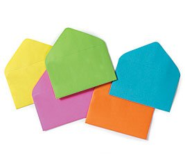 Enclosure Card #63 Everyday Asst Colors Envelopes 2 1/2