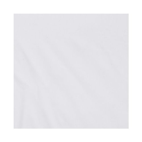 Bacati Solid White Crib Fitted Sheet - 1