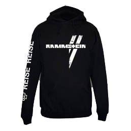 Rammstein -  Felpa con cappuccio  - Uomo nero L