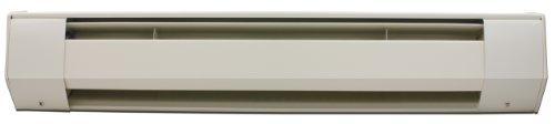 King 4K1210A 1000-Watt 120-Volt 4 Foot Baseboard Heater, Almond