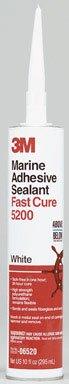 3M Marine Adhesive/Sealant Fast Cure (White, 1/10 Gallon)