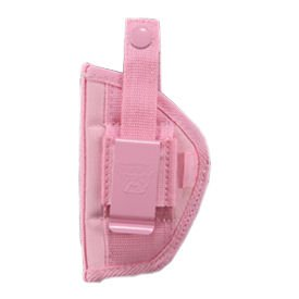 Bulldog Pink Belt and Clip Ambi Holster (Fits Most Small Frame Revolvers with 2 - 2 1/2-Inch Barrels, S & W J Frame)