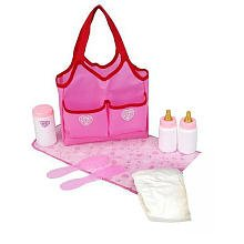 You & Me Doll Accessories Tote Bag - Hot Pink
