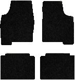 Ford Mustang Carpeted Floor Mats 4 Pc Set - Convertible - Black (2000 00 2001 01 2002 02 2003 03 2004 04 ) AMSB7Z2960T5SIJ