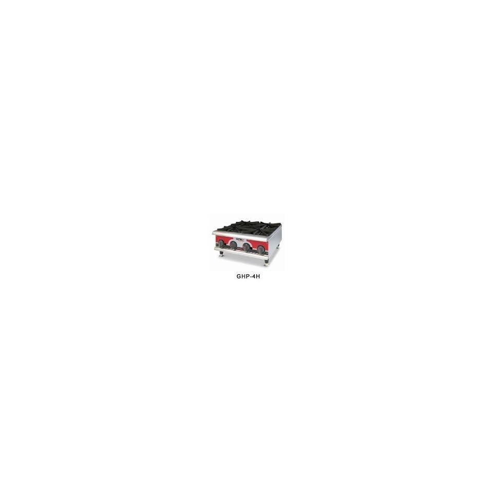 APW Wyott GHPW 2H NG 2 Burner Countertop Champion Hotplate, Manual  Controls, Stainless, NG