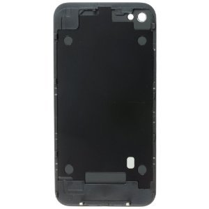 Glass Black Full Back Cover Housing for Iphone 4S AT&T Sprint Verizon
