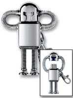Pike & Co Technologies EQ USB DRIVE, SILVER ROBOT, 4GB with Compact Card Multitool & Precision Screwdriver set by Pike & Co Technologies EQ