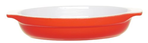 Emile Henry 10-1/2-Inch Oval Gratin, Apricot Color: Apricot Size: 10-1/2-Inch By 7.2-Inch Home & Kitchen front-482817