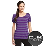 M&S Collection Active Performance Tie Hem Striped Top