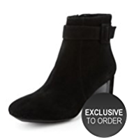 Footglove™ Premium Suede Side Buckle Boots
