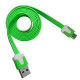 Green Micro Usb Flat Noodle Data Cable High Speed No Tangle By ThePhoneCovers