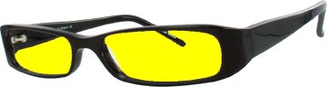 Plastic Frame NIGHT DRIVING GLASSES WITH CANARY YELLOW POLYCARBONATE